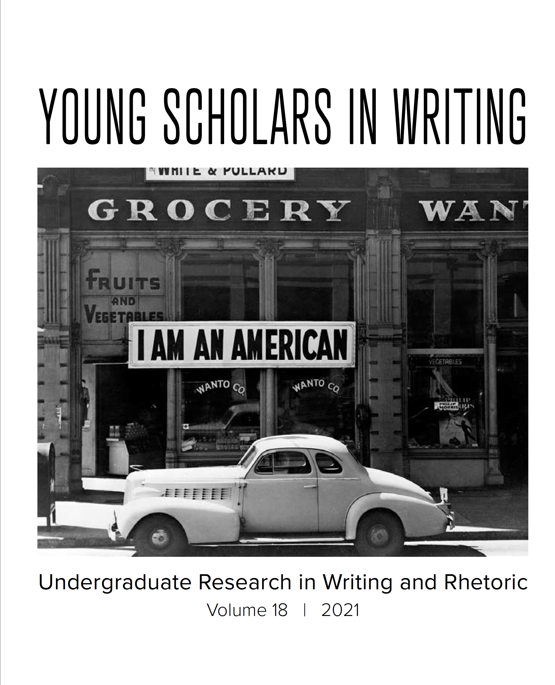 Young Scholars in Writing Volume 18 Cover